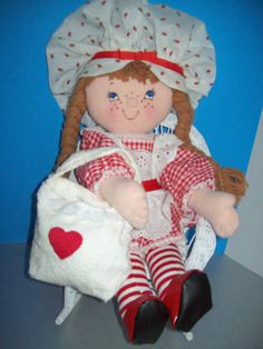 Cloth Doll PDF Pattern Kitty from the Country Soft 18 inch Doll PDF Pattern by Peekaboo Porch