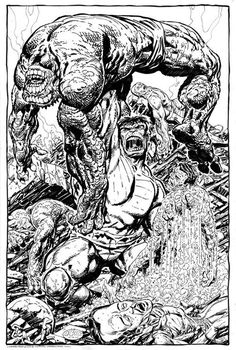 The Hulk vs. The Abomination by John Byrne