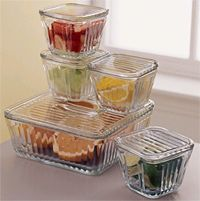 Glass tupperware, oven to freezer