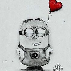 Minion Bob Drawing in pencil - Painting Minion Sketch, Minion Drawing, Minion Art, Minion Painting, Minions Bob, Cool Art Drawings, Pencil Art Drawings, Art Drawings Sketches, Easy Drawings