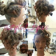 Gorgeous #updo by our student, Eve. #hair #beauty