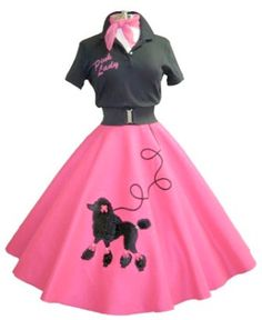 Pink Lady Poodle Skirt Outfit