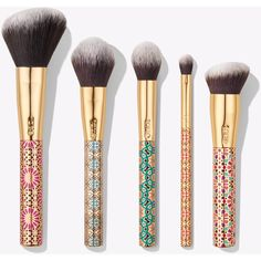 Treasured Tools Brush Set | Tarte Cosmetics (180 PEN) ❤ liked on Polyvore featuring beauty products, makeup, makeup tools, makeup brushes, set of makeup brushes, tarte, set of brushes and tarte makeup brushes