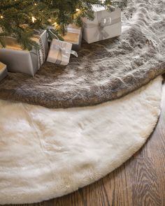 Lodge Faux Fur Tree Skirt | Balsam Hill