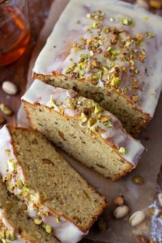 Make the holidays a little happier with this rich, buttery pistachio pound cake! It's moist, tender and speckled with roasted pistachios! Natalie Dicks from Life Made Simple. Pistachio Recipes, Pistachio Cake, Food Cakes, Cupcake Cakes, Bundt Cakes, Just Desserts, Delicious Desserts, Cake Recipes, Dessert Recipes