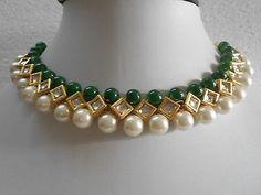 Nice green and pearl emerald