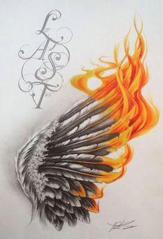 29 Amazing Phoenix Tattoo Ideas You Will Enjoy - fantastiche idee per tatuaggi Phoenix che ti piaceranno Body Art Tattoos, Tattoos, Tattoo Drawings, Feather Tattoos, Wings Drawing, Wings Tattoo, Phoenix Tattoo, Small Tattoos, Tattoo Designs