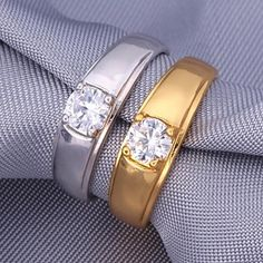 U7® 5MM 1ct Sparkle Cubic Zirconia Bridal 18K Gold Platinm Plated Rings - USD $ 4.99