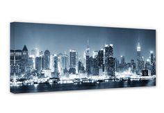 Leinwand New York at night 1 - coole Skyline für die Wand | wall-art.de
