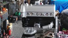 Motor pintado listo para armar