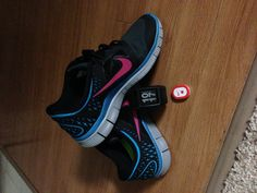 Nike free run, the watch connects to that little tiny device that slips into the shoes, awesome for runners who like to track their runs.