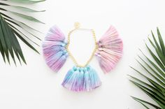 DRAGONFLY 2 / Dyed tassel & Gold chain tropic by DDSLLGirlsStore, $45.00
