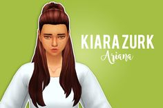 """KIARA ZURK ARIANA retexture/recolor""""So I fell in love with @whatkindofsim-archive's textures (I still miss them in the community), so from now on I will be recoloring/retexturing the hairs I use with..."""
