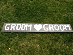 A custom sign for our Grooms for their Vintage Lemonade Stand.