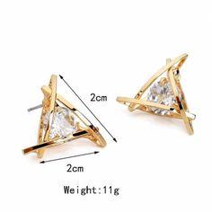 European-Luxury-Austrian-Crystal-Zircon-Gold-Triangle-Earrings-For-Women