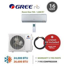 kingsfin 12 000btu mini split ductless ac air conditioner and heat gree rio24230141215 24000 btu 16 seer wall mounted mini split air conditioner heat pump 220v