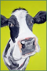 Came across Caroline Walker at an exhibition in Padstow. She paints herds of cows, and they were just so stunningly vivid! Really wish I had bought one as the price seems to have shot up!