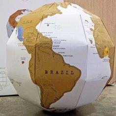 Scratch Off Globe