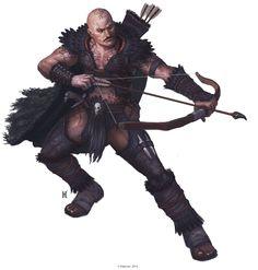 Shoanti Male - Pathfinder character art