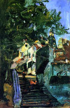 Chaïm Soutine | 1893-1943, Russia / Jewish / France, expressionism | escalier à Chartres, 1933