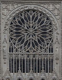 Rose Window, Amiens Cathedral, Amiens, France