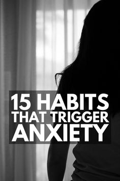 15 Habits that Make Anxiety Worse | Dealing with anxiety can be extremely overwhelming and lonely. If you're looking for tips and remedies to help you manage the symptoms of anxiety, you may be surprised to find out that some of your lifestyle habits can trigger anxiety and panic attacks. Whether you have high functioning or severe anxiety, this post will give you a list of healthy habits to adopt to help ease anxious thoughts. Anxiety Panic Attacks, Deal With Anxiety, Anxiety Thoughts, Low Self Worth, Serotonin Levels, Feeling Inadequate, Mental And Emotional Health, Anxious