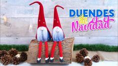 Manualidades para decorar en NAVIDAD - como hacer DUENDES o ELFOS de SAN...