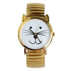 I'm not usually a watch kind of person but this cat watch is adorable.