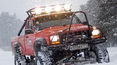 Jeep MJ Commanche Baja Lights Push Bar Lifted Mud Truck