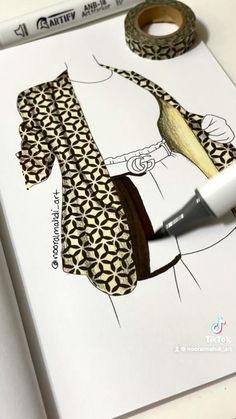 Fashion Design Books, Fashion Design Sketchbook, Fashion Design Portfolio, Fashion Design Drawings, Fashion Books, Fashion Sketches, Fashion Illustration Tutorial, Fashion Drawing Tutorial, Dress Design Drawing