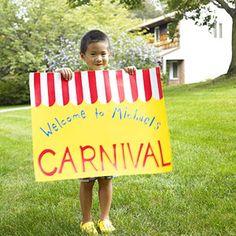 carnival birthday sign