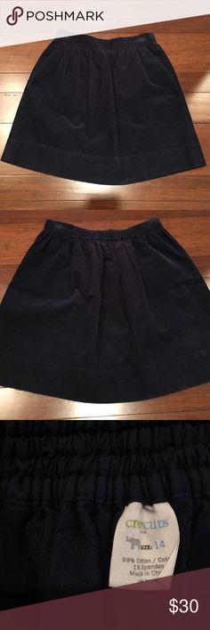 Navy Corduroy Skirt Jcrew girls size 14 navy Corduroy skirt. Has pockets! J. Crew Bottoms Skirts