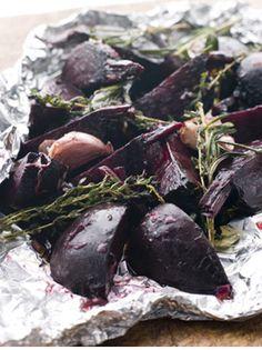 Mediterranean Food: Roasted Beets with Lemon Vinaigrette