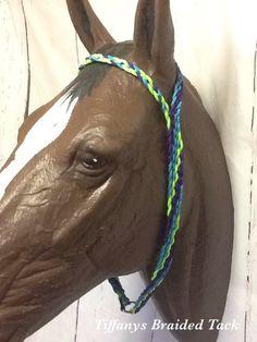 horse tack braided horse tack paracord horse tack custom horse tack barrel racing Turquoise War bonnet paracord tie down