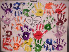 class project for art auction 1st grade