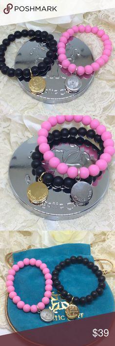 Rustic Cuff Okie love bracelets Catherine Blk pink Rustic cuffs. Catherine style. Pink with silver. Black with gold. Comes with 1 RC logo bag. Look at our other listings for bundle savings! Rustic Cuff Jewelry Bracelets