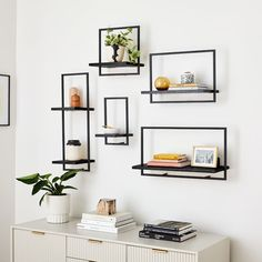 Shelfmate Wood & Metal Shelves Collection - Black
