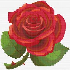 Red rose  Embroidery Kit 2553 12 1/2 x 12 1/2 on 11 count