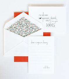 The lettering & the envelope liner!  http://www.mrboddington.com/lookbook/