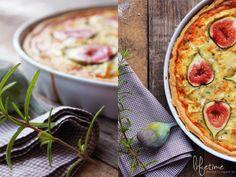 Feigen Käse Quiche mit Kräutern, Backen, Camembert, Ziegenkäse, fig