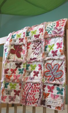 Rag Quilt CUSTOM for Baby GIRL  Handmade  por roryunraveled en Etsy