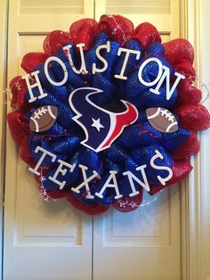 Houston Texans Deco Mesh Wreath