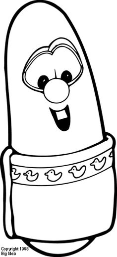 veggie tales coloring pages hairbrush