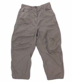Rundholz Black Label Pants Small Olive Lagenlook Balloon Slouchy Button Fly #RundholzBlackLabel #Lagenlook #Casual #pantswomen