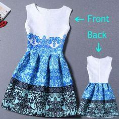 Sleeveless Casual printed Dress