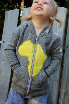 Applique sweatshirt w/Africa (or any country or state)