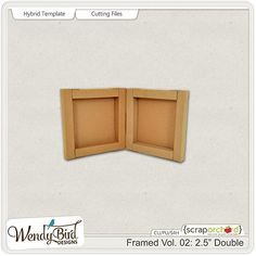 """<p> Framed Vol. 02: 2.5"""" Double hybrid template and cutting files by WendyBird Designs</p>"""