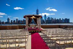 Outdoor Mandap/Manhattan View/Chivary Chiars/Photos MadeEz/ Elegant Affairs