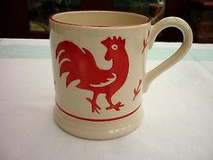 Red Animals - Red Cockerel 0.5 Pint Mug 2006 (Discontinued)