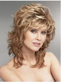 Hair Blonde Wavy Synthetic Perfect Medium Wigs, Real Hair Wigs Medium Length - Want Blonde Wavy Synthetic Perfect Medium Wigs? Wigsis offers various mid-length haircuts wigs, top quality with latest colors Curly Hair With Bangs, Long Curly Hair, Real Hair Wigs, Human Hair Wigs, 100 Human Hair, Medium Hair Styles, Curly Hair Styles, Hair Medium, Layered Hair